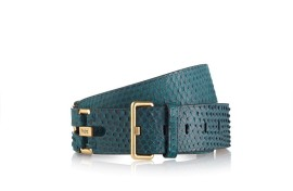 XCWCPN70100PVET601-F1-Python-Belt-Dark-Peacock-Green