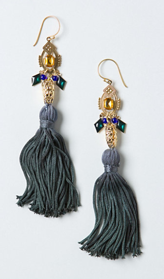 2 Beth Lauren Ingress tassel earrings at anthropologie.com
