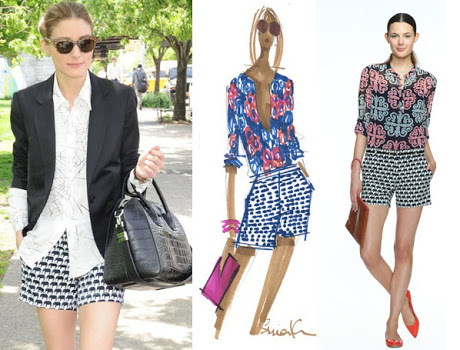 Banana Republic Milly Elephant Shorts Olivia Palermo